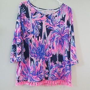 Lilly Pulitzer Shirt with Fringe